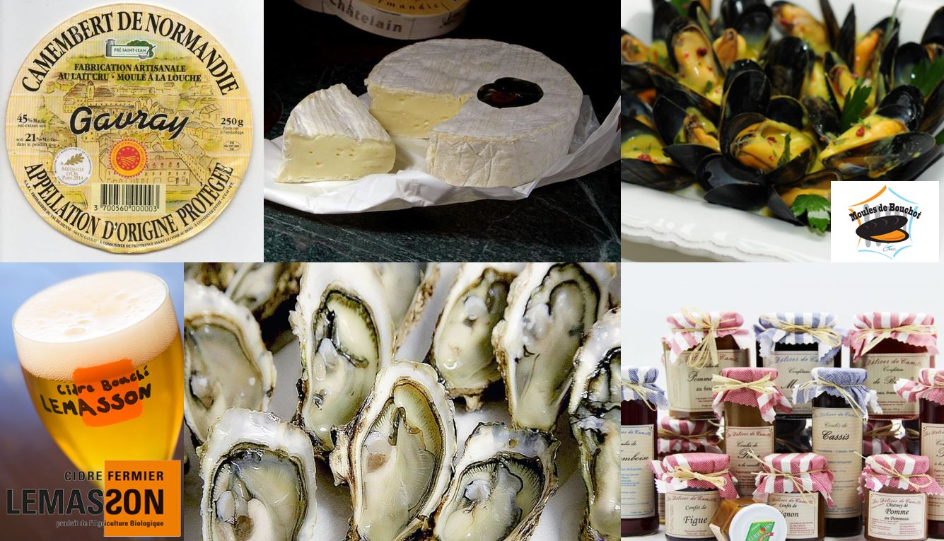Normandie, gastronomie, mer, campagne. Hauteville Sur Mer en Normandie